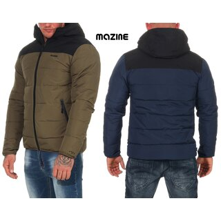 mazine Herren Winterjacke Estevan Puffer Jacket Modern Streetwear mit Kapuze